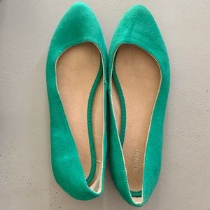 !3 for $25! Green Ballet Flat Shoes Sz 8